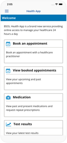 Birmingham and Solihull Health App